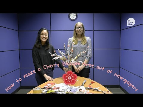 How to make a Cherry Blossom tree out of newspapers