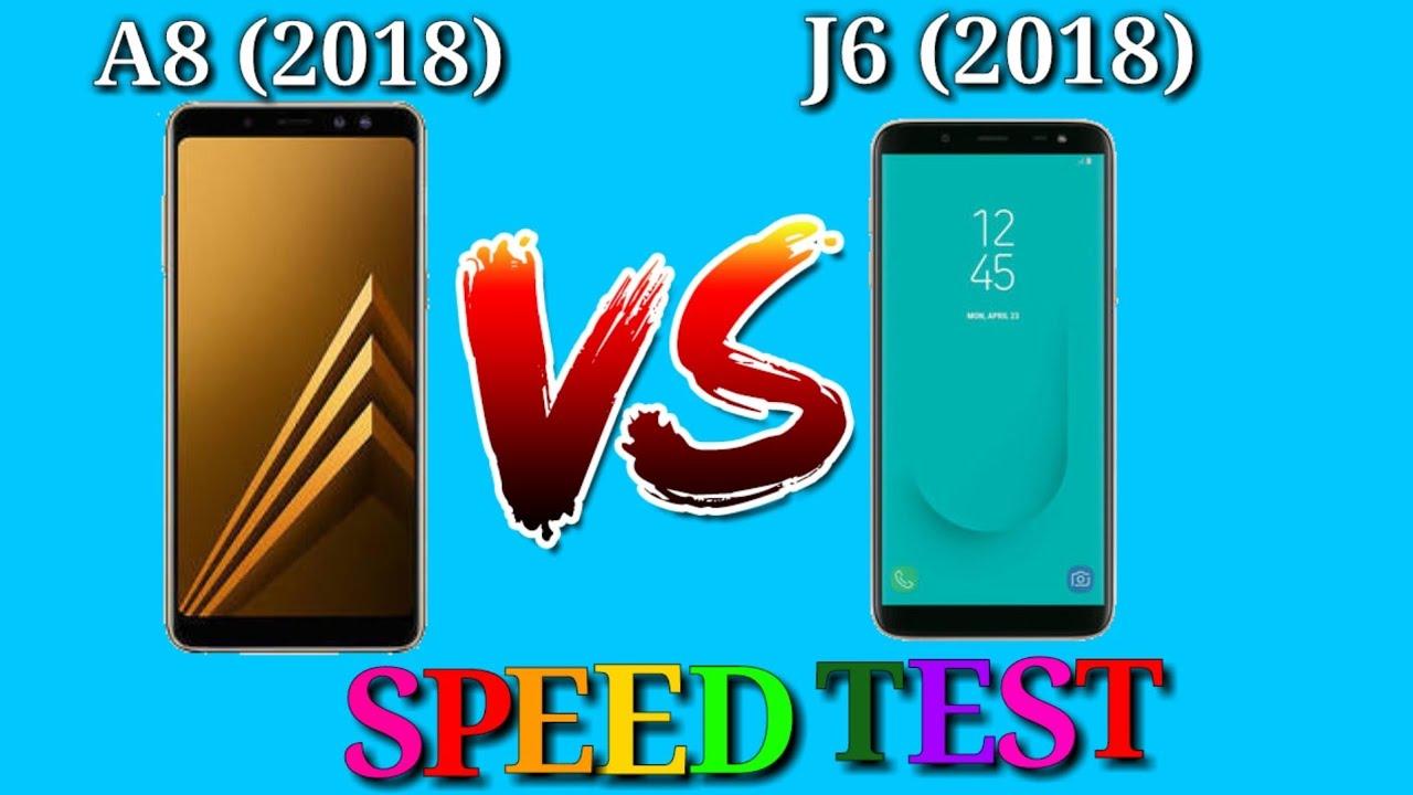 samsung j6 2018 vs a8 2018 speed test youtube. Black Bedroom Furniture Sets. Home Design Ideas