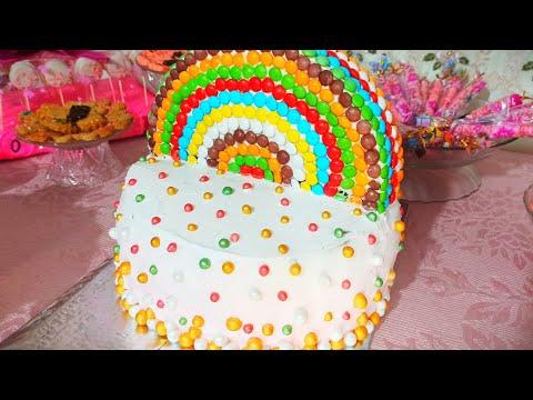 حصريا-تارت-قوس-قزح-بالفواكه-🌈-gâteau-arc-en-ciel-aux-fruits