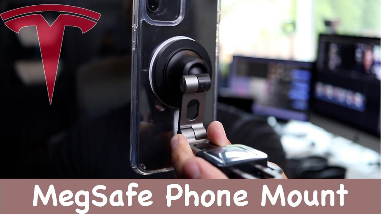 The MegSafe Foldable (Hidden) Tesla Phone Holder