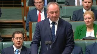 Barnaby Joyce Dual Citizenship Statement (Aug 14, 2017)