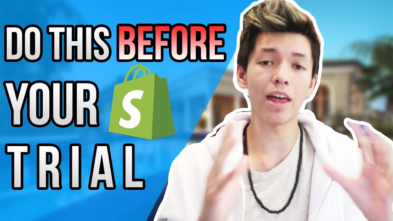 YOU NEED to do this BEFORE you start your SHOPIFY trial