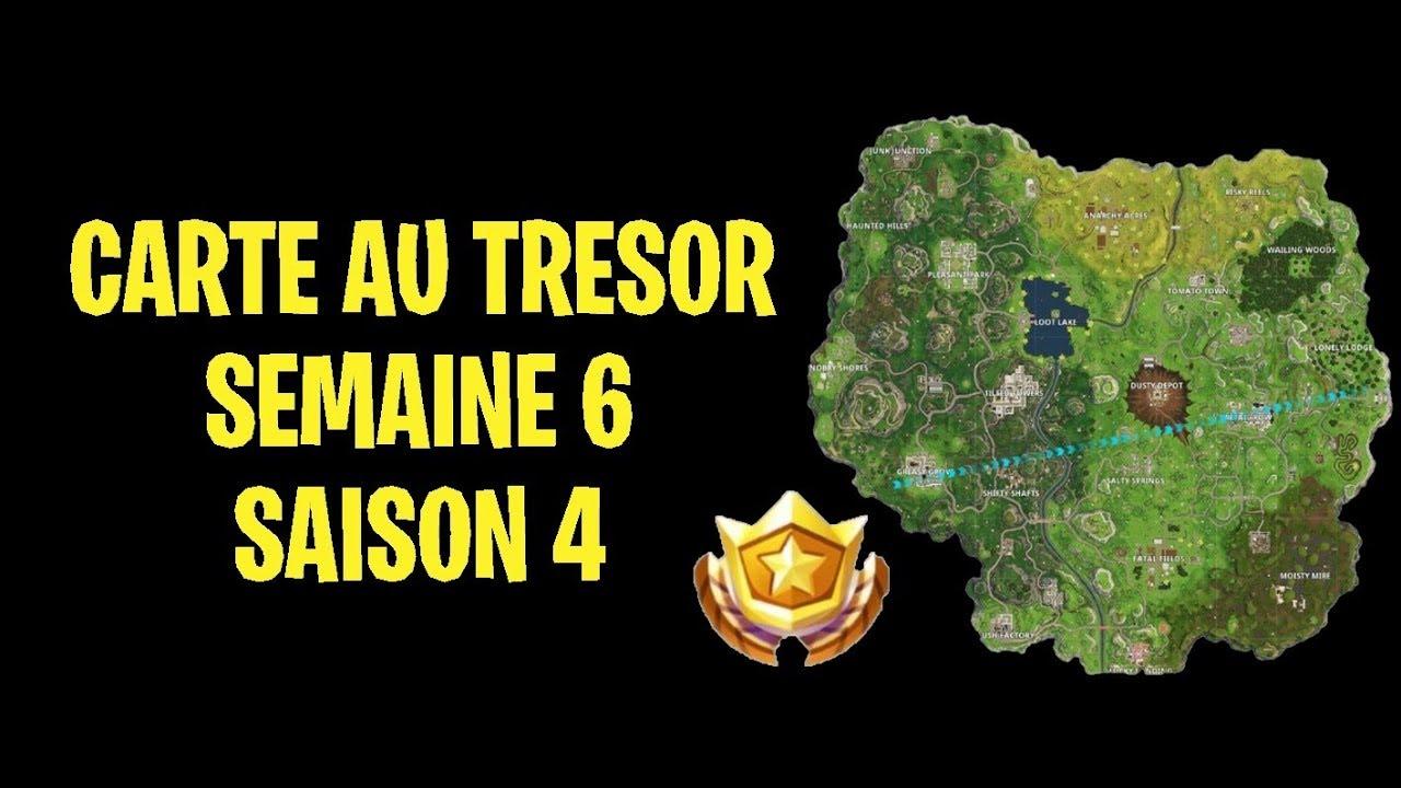 Carte Au Tresor Semaine 6 Saison 4.Fortnite Tresor Semaine 6 Saison 4 Fouiller Entre Une Air De Jeu Un Terrain De Camping Et Une Emp