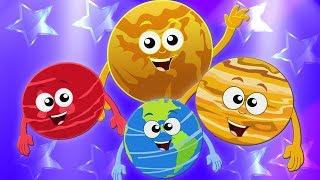 Planet Lagu | Sistem Tata Surya Lagu | Belajar Planet Untuk Anak-anak | 9 Planet | Planet Song