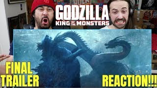 GODZILLA: King Of The Monsters -  FINAL TRAILER - REACTION!!!