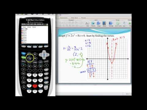 Graphing a parabola in standard form and finding the vertex using ...