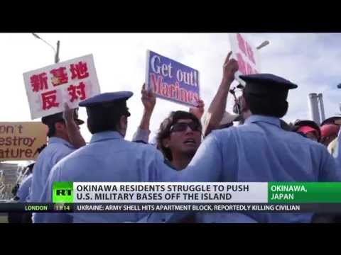 'Get out Marines' Thousands protest US military base in Japa