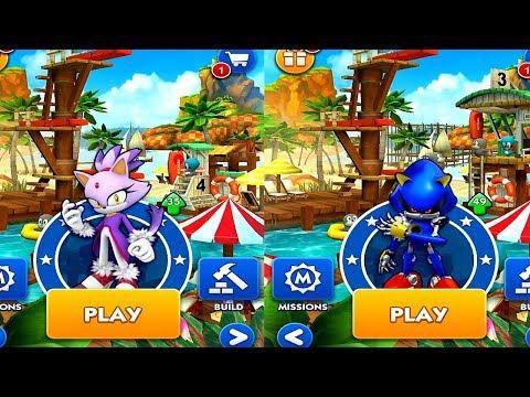 Sonic Dash BLAZE VS METAL SONIC Android iPad iOS Gameplay