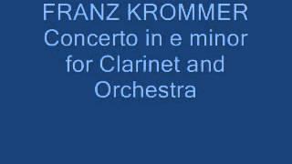 Franz Krommer Concierto para Clarinete en mi menor,  Op  86.