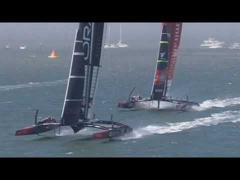 Team NZ winning streak ends as Team USA claim first points in America's Cup final