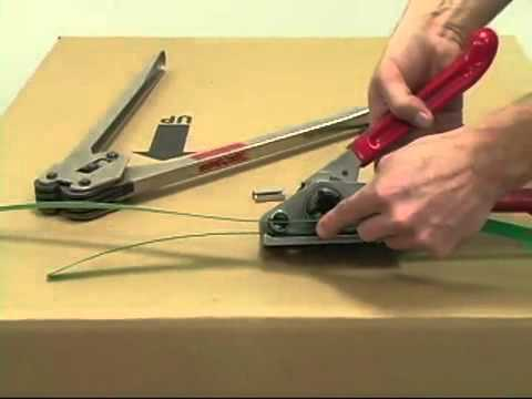 How To Use A Manual Plastic Poly Strap Tensioner For
