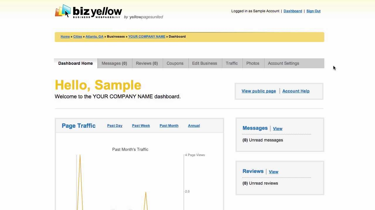 Yellow Pages United - BizYellow Tutorial 7 - Account Settings