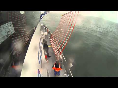 Dacon Rescue Scoop 3 minute rescue on windfarm support vessel