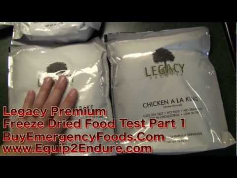 Legacy Premium Freeze Dried Meals, Test Part 1