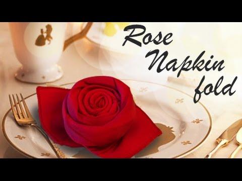 Rose napkin fold - DIY