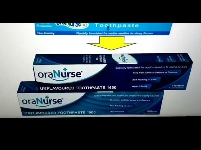 Oranurse Autism friendly Toothpaste repackaged