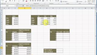 Excel:  How to get 1st, 2nd and 3rd Largest/Smallest value in lists (use of LARGE/SMALL Function)