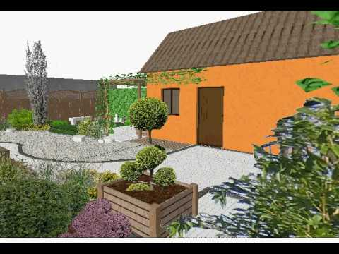 Etude de l 39 am nagement d 39 un petit jardin japonais youtube for Amenagement d un jardin