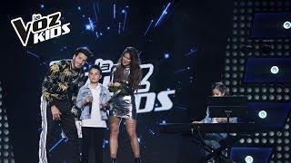 Juanse entrenó con Greeicy Rendón | La Voz Kids Colombia 2018
