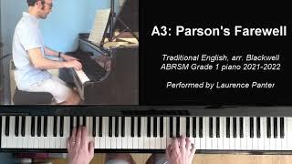 A:3 Parson's farewell (ABRSM Grade 1 piano 2021-2022)