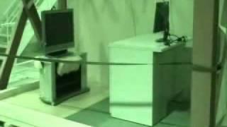 液晶テレビを薄型TVストッパーで固定して耐震試験(神戸地震波) 液晶テレビ 検索動画 28