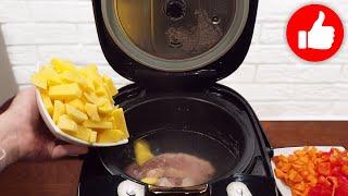 Все обалдели когда ПОПРОБОВАЛИ Новый рецепт шурпы из говядины в мультиварке Как приготовить суп