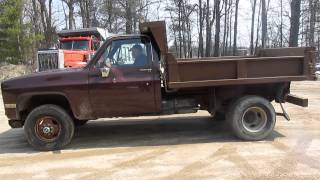Orbidbit.com- MICHIGAN Complete Construction - 1982 Chevrolet Cheyenne 3500 Dump Truck Lot# 412387
