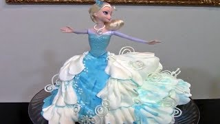 How To Make A Frozen Elsa Cake / Cake Decorating