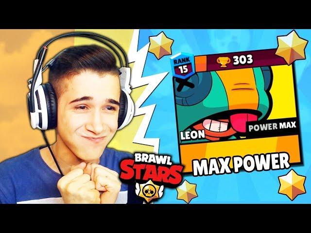NAPOKON SAM UNAPREDIO LEONA NA MAX POWER! - Brawl Stars
