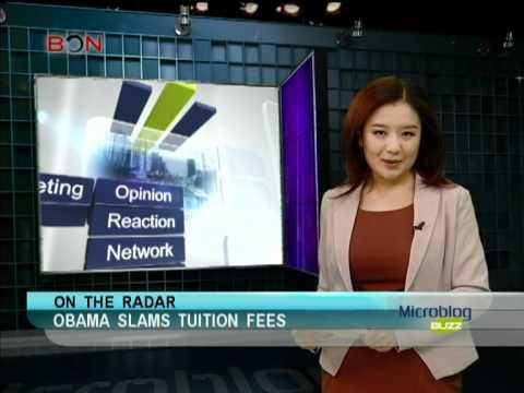 Obama Slams Tuition Fee -- Microblog Buzz: Feb. 3 -- BON TV China