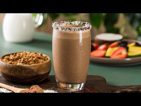 Licuado Ligero de Coco con Chocolate