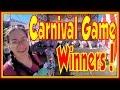 🎠 Fun Carnival Games at Alaska State Fair | Winning Impossible Amusement Carnival Game Wins Winners