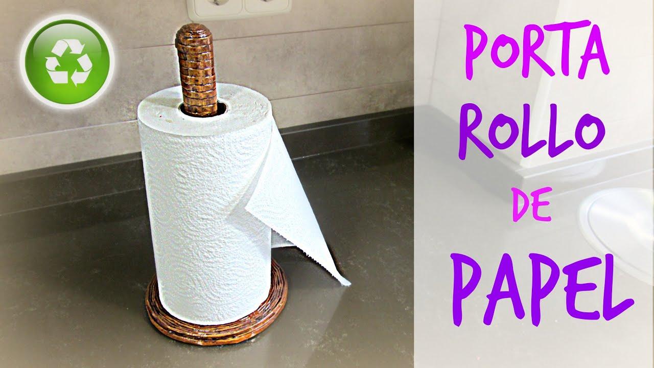 C mo hacer un porta rollo de cocina de papel peri dico for Como decorar un rollo de papel higienico