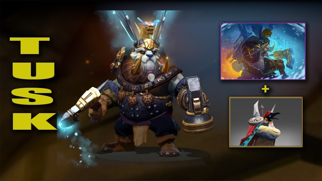 Dota 2 Plus Tusk Best Mix Set With Immortal Hammer Of The