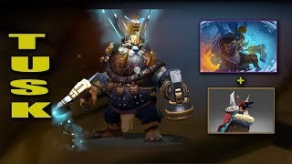 Dota 2 Plus Tusk Best Mix Set With Immortal (Hammer Of The Guarded Word-Whisky The Stout Artifact)