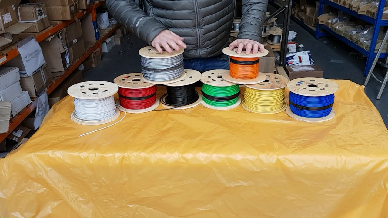 PVC Plastic Coated Steel Wire Rope - Many colours to choose from ...