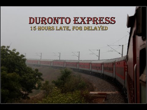 DELHI to CHENNAI By Duronto Express | 15 Hours Fog Delayed Duronto - Part 1 | INDIAN RAILWAYS