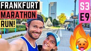 RUNNING a MARATHON in FRANKFURT! IN 35 degrees!!! S3E9