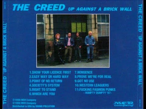 the creed - up against a brick wall (japanese punk band - full album)