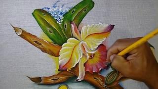 Aprenda a Pintar em tecido, orquídea e Acabamentos ( finalizando o Projeto)