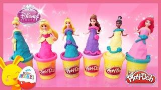 Princesses Disney en Pâte à modeler Play Doh en français - Magiclip - Titounis