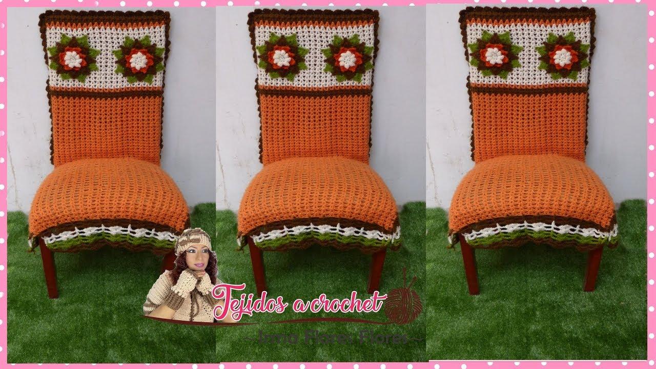 3ºparte Funda A Crochet Para Silla De Comedor Youtube