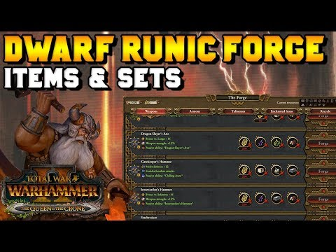 Early Access NEW Dwarf Runic Forge Guide- Items & Sets Explained | Total War: Warhammer 2