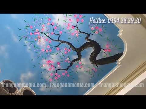 Vẽ Tranh Tường Trần Mây 3D tại Vĩnh Phúc