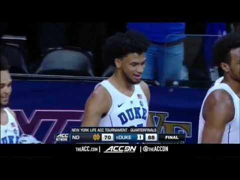 ACC MBB Tournament: Notre Dame vs Duke Condensed Game 2018