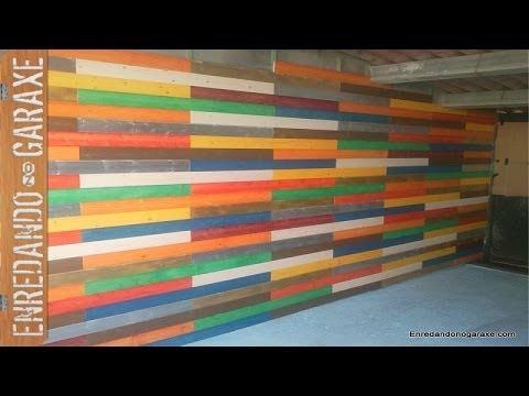 instalar y pintar friso de madera installing colourful groove and tongue wainscot