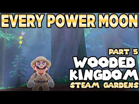 Every Power Moon in Super Mario Odyssey Part 5 - Wooded Kingdom Steam Gardens | Austin John Plays