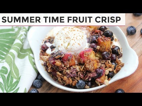 GLUTEN FREE + VEGAN FRUIT CRISP | MANGO BLUEBERRY + GINGER