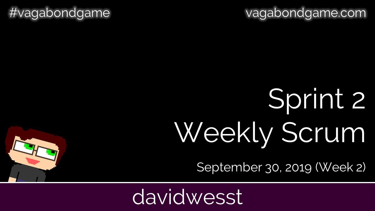 Thumbnail images for #VagabondGame Sprint 2 Scrum (Week 2) video