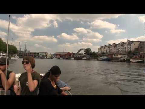 Bristol Harbour Ferry tour of the Docks No 7 Boats part 1
